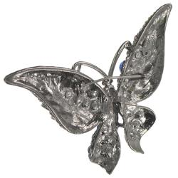 Multi-color Crystal Stones Butterfly Brooch - Thumbnail 1