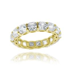Icz Stonez 18k Yellow Gold over Silver Asscher-cut Cubic Zirconia Eternity Ring (9.24ct TGW)