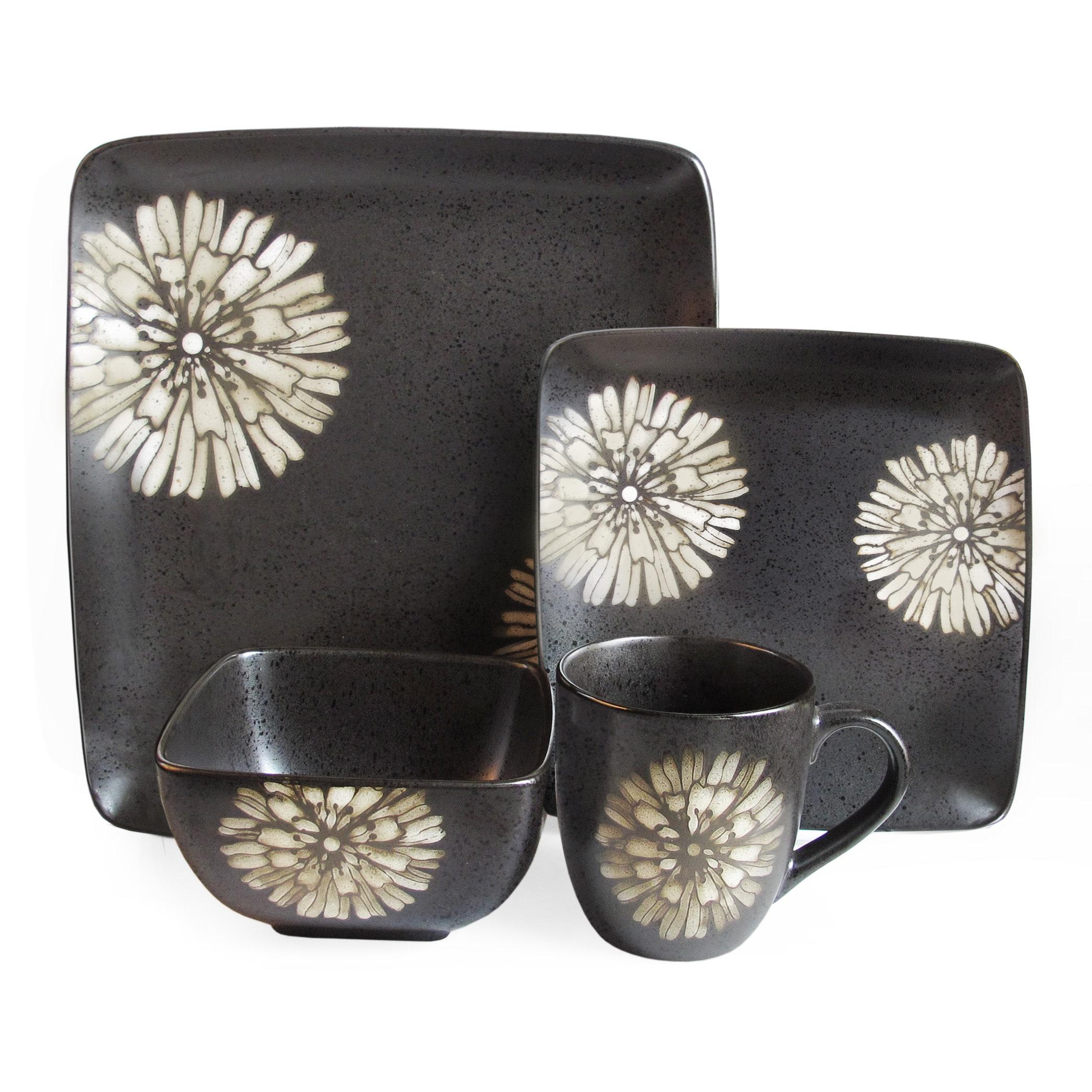 American Atelier Camile White 16-piece Dinnerware Set