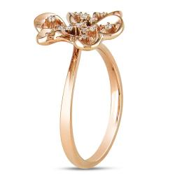 Miadora 14k Pink Gold 1/10ct TDW White Diamond Ring - Thumbnail 1
