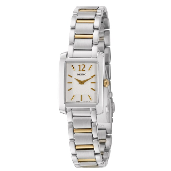 Seiko Women's 'Bracelet' Stainless and Yellow Goldplated Steel Quartz Watch