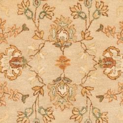 Safavieh Handmade Farahan Khaki/ Ivory Hand-spun Wool Rug (2' x 3') - Thumbnail 2