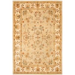Safavieh Handmade Farahan Khaki/ Ivory Hand-spun Wool Rug (9'6 x 13'6)