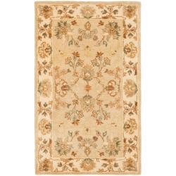 Safavieh Handmade Farahan Khaki/ Ivory Hand-spun Wool Rug (2' x 3')
