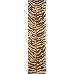Safavieh Handmade Zebra Beige Hand-spun Wool Rug (2'3 x 10')