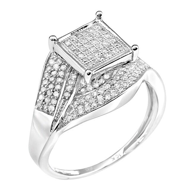10k White Gold 2/3ct TDW White Diamond Ring (G-H, I1-12)
