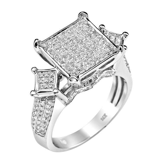14k White Gold 1 2/3ct TDW White Diamond Ring (G-H, I1-I2)