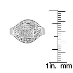 10k White Gold 2/3ct TDW White Diamond Ring (G-H, I1-12) - Thumbnail 2