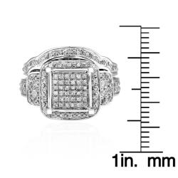 14k White Gold 9/10ct TDW White Diamond Ring (G-H, I1-12) - Thumbnail 2
