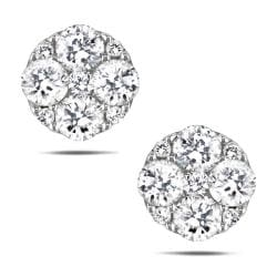 10k White Gold 5/8ct TDW White Diamond Stud Earrings (G-H, I1-I2)