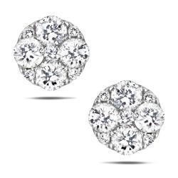 10k White Gold 5/8ct TDW White Diamond Stud Earrings (G-H, I1-I2)