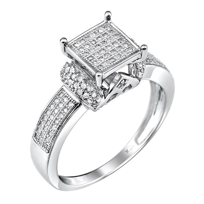 10k White Gold 1/3ct. TDW White Diamond Ring (G-H, I1-12)
