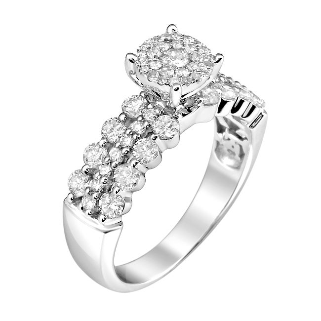 14k White Gold 1 1/5ct. TDW White Diamond Ring (G-H, I1-I2)