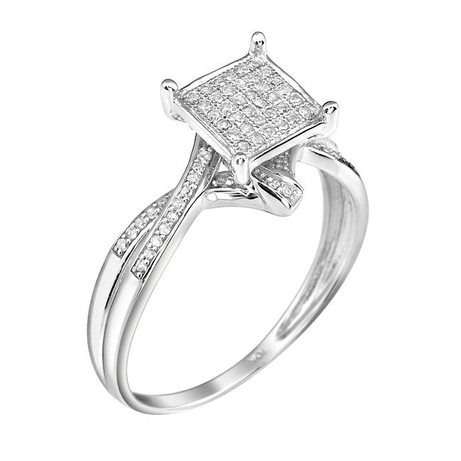 10k White Gold 1/5ct TDW White Diamond Ring (G-H, I1-I2)