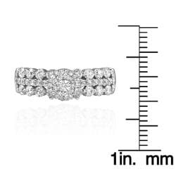 14k White Gold 1 1/5ct. TDW White Diamond Ring (G-H, I1-I2) - Thumbnail 2
