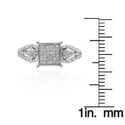 10k White Gold 1/3ct TDW White Diamond Ring (G-H, I1-I2) - Thumbnail 2