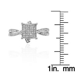 10k White Gold 1/5ct TDW White Diamond Ring (G-H, I1-I2) - Thumbnail 2
