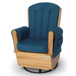 Foundations SafeRocker SS Swivel Glider Rocker in Natural & Blue