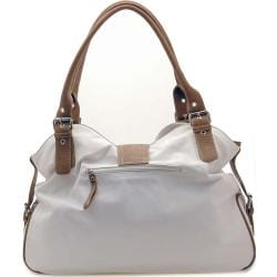 Two-tone Ring Front Flap with Magnet Hobo - Thumbnail 2