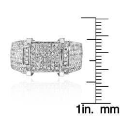 14k White Gold 1ct TDW White Diamond Ring (G-H, I1-I2) - Thumbnail 2