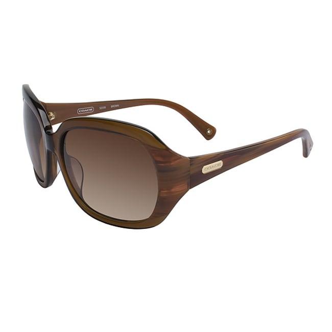 Coach S 2006 224 Amber Brown Plastic Sunglasses