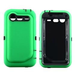 Black/ Green Hybrid Case for HTC Droid Incredible 2 - Thumbnail 2