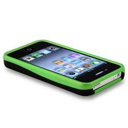 Green/ Black Cup Shape Snap-on Case for Apple iPhone 4 - Thumbnail 2