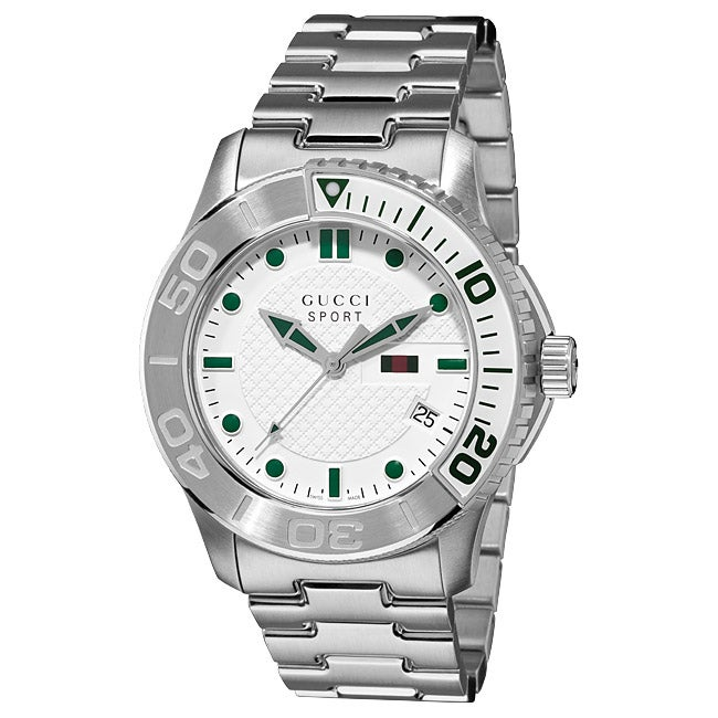 6e761ca9cd4 Shop Gucci Men s  G-Timeless Sport  Stainless Steel Watch - Free Shipping  Today - Overstock - 6341477