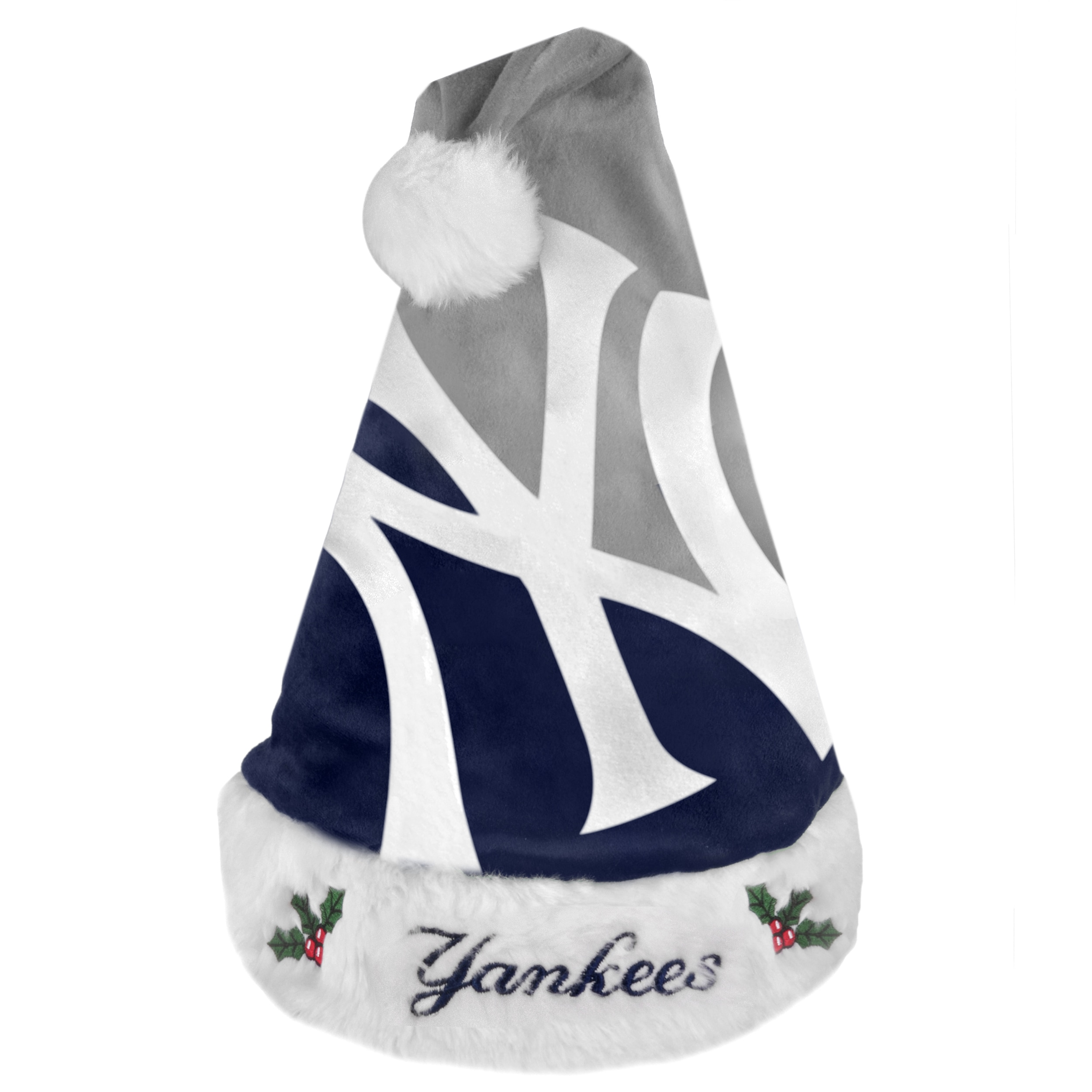 New York Yankees 2011 Colorblock Runoff Logo Santa Hat