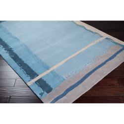 Hand-tufted Pryor New Zealand Wool Rug (8' x 11')