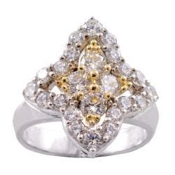 Michael Valitutti 14k Gold and Silver Cubic Zirconia Ring|https://ak1.ostkcdn.com/images/products/78/274/P14001147.jpg?impolicy=medium