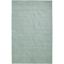 Loomed Grinnell Damask Pattern Wool Rug (9' x 13')
