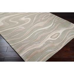 Hand-tufted Zagros Abstract Waves Wool Rug (9' x 13') - Thumbnail 1