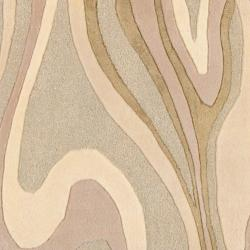 Hand-tufted Zagros Abstract Waves Wool Rug (9' x 13') - Thumbnail 2