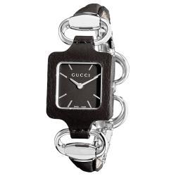 Gucci Women's '1921' Bangle Style Black Leather Watch