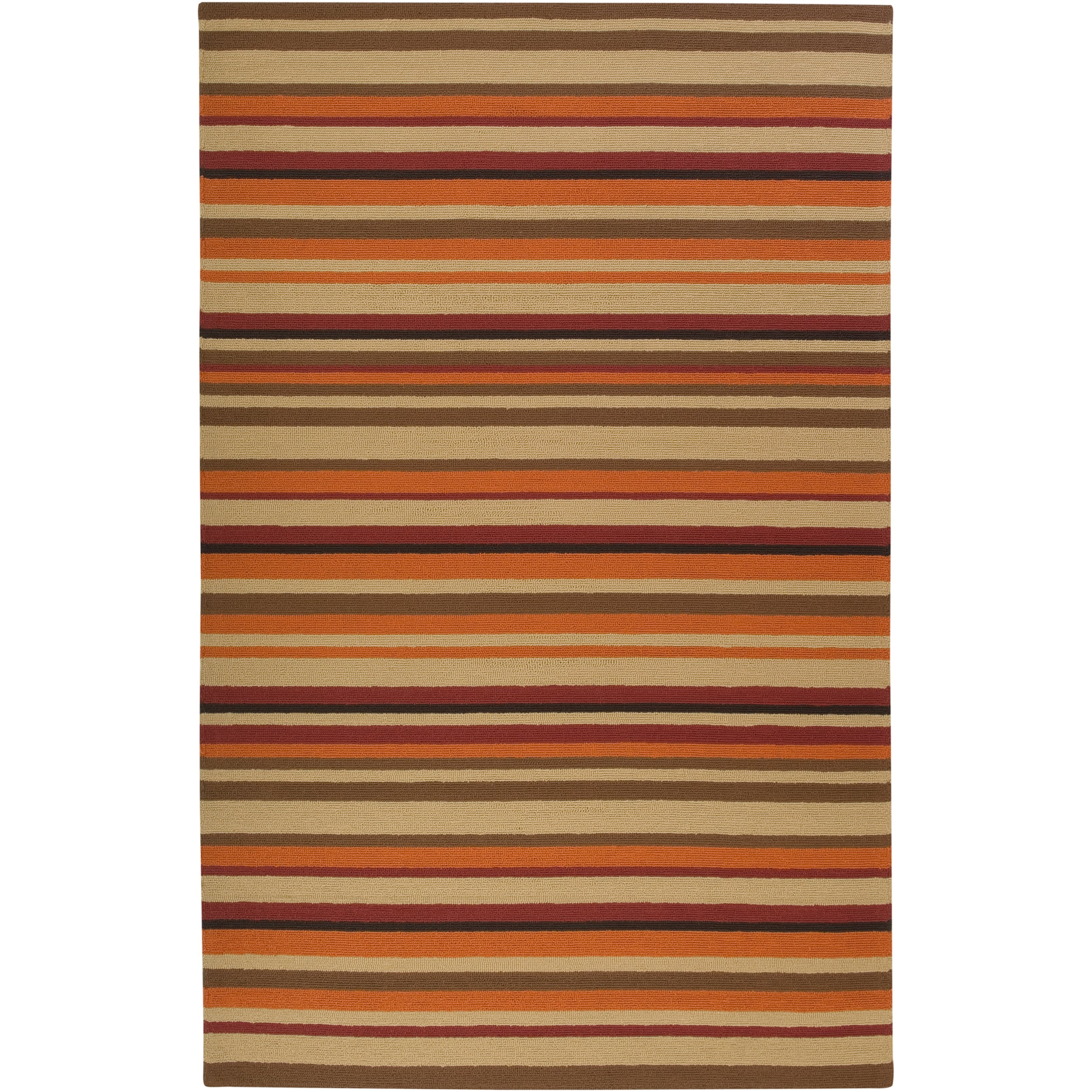 Hand-hooked Multi Colored Striped Davis Rug (9' x 12')