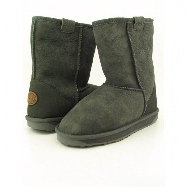 Emu Australia Women's 'Stinger Lo' Grey Charcoal Mid Calf Boots (Size 9)