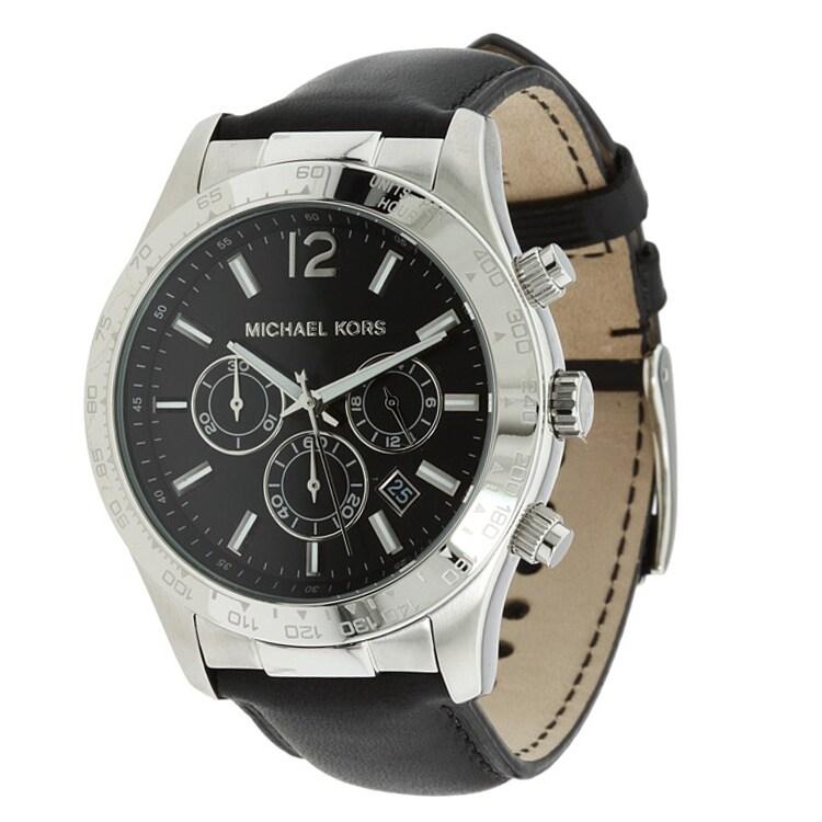 Michael Kors Men's Leather Strap Chronograph Watch