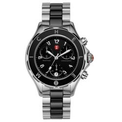 Michele Women's 'Tahitian' Black Ceramic Chronograph Watch