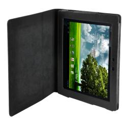 Premium Asus Transformer Tablet Leatherette Folding Stand Case - Thumbnail 1
