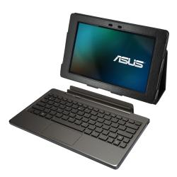 Premium Asus Transformer Tablet Leatherette Folding Stand Case - Thumbnail 2