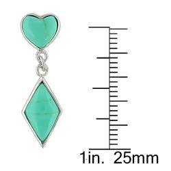 Sterling Silver Turquoise Dangle Earrings - Thumbnail 2