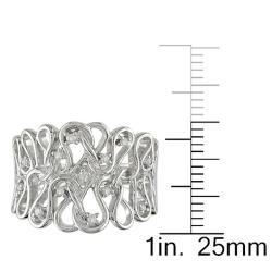 Miadora 14k White Gold 1/10ct TDW Diamond Ring - Thumbnail 2