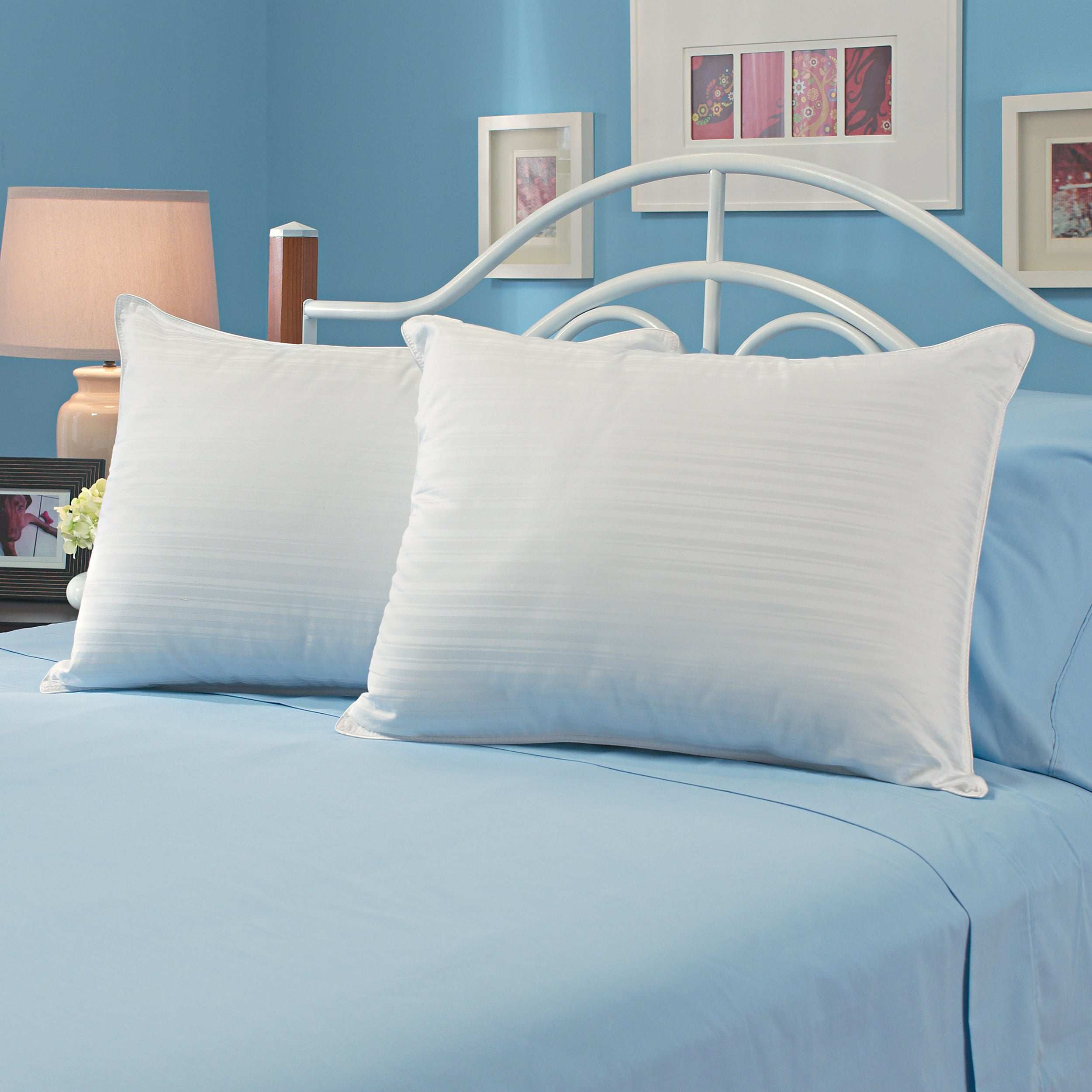Famous Maker 600 Thread Count Egyptian Cotton Pillows (Set of 2)