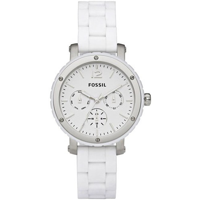 Fossil Women's 'Modern' Stainless Steel and Silicone Watch