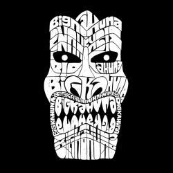 Los Angeles Pop Art Men's Tiki Big Kahuna Hoodie - Thumbnail 1