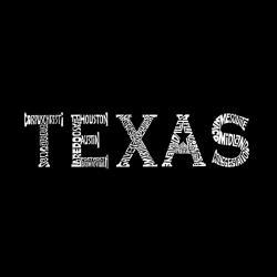 Los Angeles Pop Art Men's Texas Cities Hoodie - Thumbnail 1