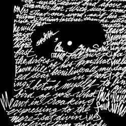 Los Angeles Pop Art Men's Edgar Allen Poe The Raven Hoodie