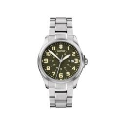 Swiss Army Men's 'Infantry' Vintage Olive Dial Watch