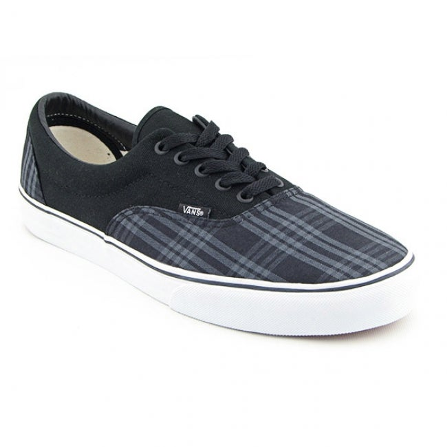 c71c10dafa0 Shop Vans Men s  Era Tupelo Plaid  Black Pewter Skate Shoes - Free ...